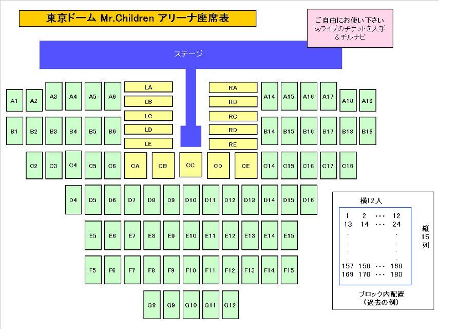 座席 東京 表 詳細 ドーム